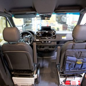 Stash all your 'go to' items in this Sprinter Seat Back Organizer.