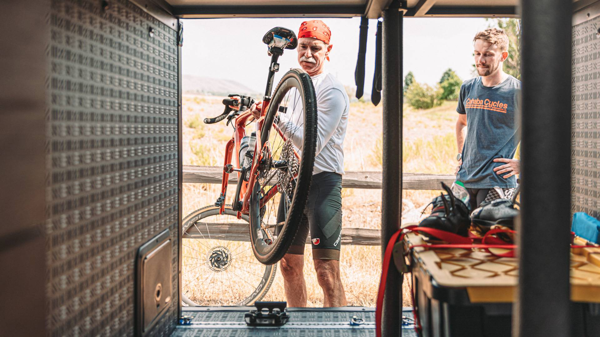 Cycling with Denver fire chief Bill D.